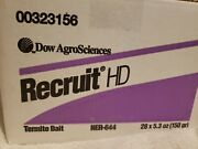 Recruit Hd Termite Replacement Bait Sticks - New - Sealed Case Of 28