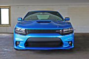 For 15-21 Dodge Charger Srt-8 Hellcat Style Front Bumper W/ Grill W/ Fog Cover