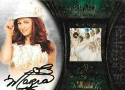 Maria Kanellis 2013 Benchwarmer Gold Preview 1/1 Signed Bikini Swatch Card