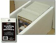 New 100 Ct Bcw Standard Trading Card Dividers For Storage Boxes