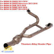 Motorcycle Exhaust Connect Pipe Header Link Tube For Bmw R1200gs R1200r R1200rs
