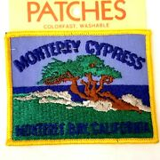 Vintage Holm Embroidered Souvenir Patch - Monterey Cypress California Usa Tree