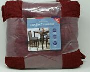 Whitley Willows Reversible 2 Pack Plush Chenille Chair Pads Rhubarb Cushions
