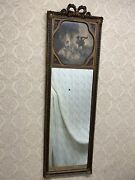Antique Ornate French Victorian Wall Mirror Musician