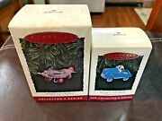 Hallmark Kiddie Car Series Murray Chamion And Murray Airplane Ornaments New