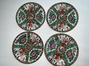 Antique Rare Collectible Beautiful Hand Painted 4 Plates Marked On Bottom