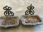 Vintage Cast Iron Walmount Soap Dishes Set Of Two