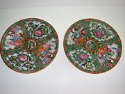 Antique Rare Collectible Beautiful Hand Painted 2 Plates Marked On Bottom