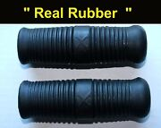 Henderson Kj And Super X Motorcycle Handle Bar Grip Set Real Rubber