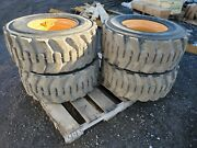 Mustang Take Off Tire Set 12.00x 16.5 Titan Skid Steer Tires And Rims M811322