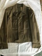 Vintage 1943 Ike Us Army Wool Field Jacket Size 40r Very Good Condition