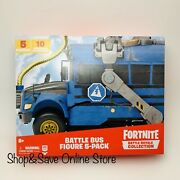Ship Same Day - Fortnite Battle Bus Figure 5 Pack Royale Collection New Toy 2020