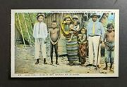 Mint Vintage Indian Family Island Of Carti Panama Picture Postcard