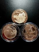 Lot Of 3 Coins/medals - Wilkes Expedition War Of Production Bicycle Craze