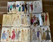 Lot Of 14 Vintage New Look Sewing Patterns Dresses Skirts Wedding Gowns Jacket