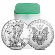 Roll Of 20 - 2021 1 Oz Silver American Eagle 1 Coin Bu Lot Tube Of 20