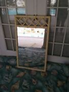 Vintage Dixie Faux Bamboo Chinese Chippendale Wall Or Dresser Mirror