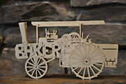 Antique Baker Steam Tractor Farm Machine New Wood Toy Puzzle Hand Made Usa