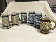 Lot Of 6 Mini Steins Handcrafted Dated And Numbered Avon