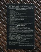 Wwii P-51d Mustang Official A.a.f Pilotandrsquos Check List