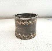 Vintage Silver Holy Water Pot Handmade And Carved 95.09 Grams Rich Patina Article