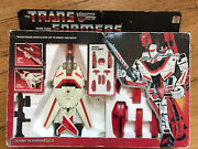 Vintage Transformers Autobot Air Guardian Jetfire In Box 1984