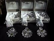 Waterford Crystal Snowflake Wishes Ornaments Limited Edition 1st 2nd And 3rd