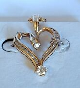 1.18ctw Diamond Heart Pendant In 14kt Yellow Gold With 14kt Gold Rope Necklace
