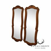 Thomasville French Country Style Vintage Pair Oak Mirrors