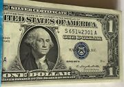 Very Rare 1957-b Silver Certificates In Pack Of 100 In Sequence Gem Uncirculated