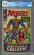 Avengers 28 Cgc 7.5 White 1st App The Collector Giant Man Goliath Jack Kirby