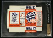1951 Wheaties Ted Williams Complete Box. Unfolded. Bvg 9.5 Gem Mint Pop 1