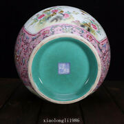 Collection China Qing Dynasty Ancient Porcelain Pastel Flowers And Birds Vase