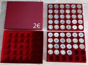 2 Euro Coin Colored Unc 44 Different Coins And Box Case For 90 Capsules Very Rare