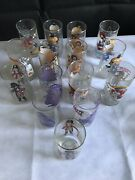 Lot Of 15 1970and039s Mcdonalds Collector Series Drinking Glasses