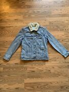 Old Navy Womenand039s Jean Jacket Light With Sherpa Lining Trucker Size S Small