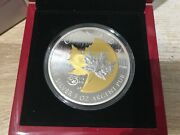 2013 Canada 50 Dollar 5oz .999 Silver Coin Anniversary Of The Maple Leaf