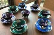 Royal Sealy Tea Cups, Set Of 7 With Saucers, Very Elegant