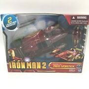 Iron Man 2 Mark Vi Red Vortex Car With Missiles And Action Figure Nos Sealed Gm3