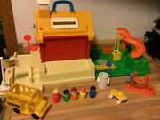 Vintage Fisher Price Little People School And Accessories