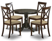 Antique Round Dining Table For 4 Dining Room Table And Kitchen Chairs Set 5 Pieces