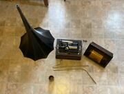 Edison Phonograph Working Condition Early Model D Record Player 2 And 4 Minute
