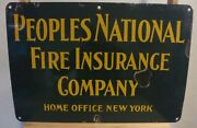 Extremely Rare Vintage Porcelain Fire Insurance Sign