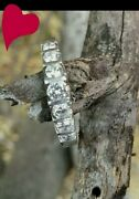 1.1ctw Platinum And Diamond Ring. Cathedral Setting. Sz 6.5 Msrp 3500 Euc