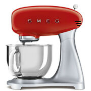 Smeg 50's Retro Style 600 Watts 5 Qt. Stand Mixer | Stainless Bowl - Red