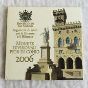 San Marino 2006 Uncirculated 9 Coin Mint Set With Silver 5 Euro - Sealed Pack