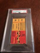 1954 Cleveland Indians Opening Day Psa Ticket 4/15 Best Indians Record 111 Wins