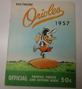 1957 Baltimore Orioles Official Mlb Baseball Yearbook Rare Brooks Robinson