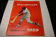 1959 St. Louis Cardinals Mlb Baseball Yearbook Stan Musial On Cover 3000th Hit