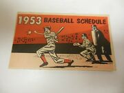 1953 Baseball Schedule Good Condition Ny Teams Home Dodgers Giants Yankees